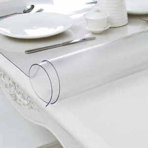 Tablecloth Clear Strong PVC Scratch Resistant Table Cloth Protector