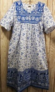 New 100% Cotton Lounge House  Dress Gown  S-M-L-1X-2X-3X