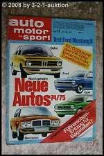AMS Auto Motor Sport 13/74 Ford Mustang II VW Käfer Seat 133