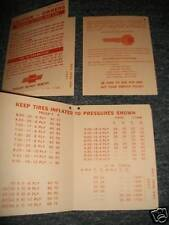 1964 1965 CHEVROLET CORVETTE IMPALA BEL AIR DASH TAG