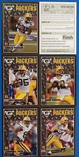 2001 - 2010 GREEN BAY PACKER CARDS  POLICE SET A ROGERS