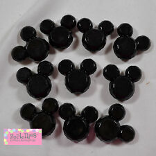 Bubblegum Beads 10 BLACK MOUSE Lot Beads Chunky Jewelry Necklace