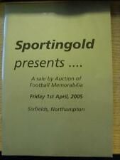 01/10/2004 Auction Catalogue: Sportingold - Football Memorabilia [At Northampton