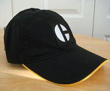 Caterpillar Heritage C Block Logo Cat Hat / Cap in Black w/ Yellow Under Brim