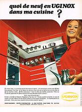 PUBLICITE  1973     UGINOX éléménts cuisine