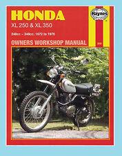 MAN209 Haynes Workshop Manual Honda XL XL250 & XL350 1972 to 1976