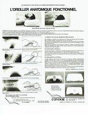 PUBLICITE ADVERTISING 126  1978   oreiller anatomique fonctionnel Condor