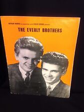 Original EVERLY BROTHERS UK Concert Program 1960 - AUTOGRAPH SIGNED
