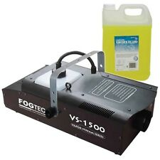 Fogtec VS 1500 Fogger Machine DJ Disco Party Smoke Machine VS1500 & 5L FLUID