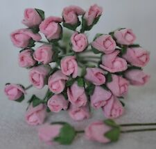 48 LIGHT PINK ROSE BUDS (S) Mulberry Paper Flowers wedding miniature