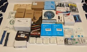 Mixed Lot of 40 Small Electronics and Accessories Perfect for Flea Market/Retail