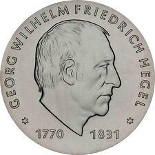 DDR 10 Mark Silber 1981 stgl. Georg Wilhelm Friedrich Hegel in Münzkapsel