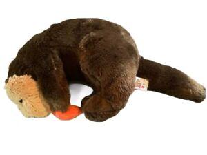 Otter Plush Beaver Unipak Stuffed Animal Toy Lovey Holding Orange Star Mammal