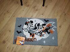 "Disney Minnie & Mickey Mouse Gray  Halloween Outdoor Mat Rug 18"" x 28"" New"