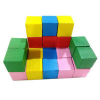 Multicolor Educational Wooden Building Blocks Toys Toddlers Baby Activity FM