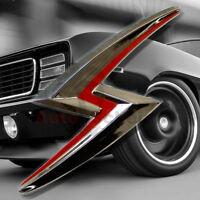 Super Sport Emblem Zeichen Chrom Schriftzug Aufkleber 3D Logo SS Zeichen Blitz