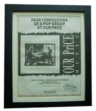 More details for style council+confessions pop group+poster+ad+orig 1988+framed+fast global ship