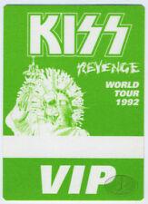 KISS 1992 REVENGE TOUR Backstage Pass VIP green