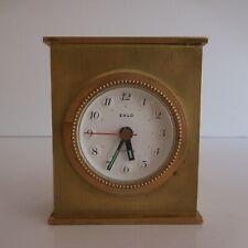 Pendulette réveil SOLO électrique vintage art déco 1950 Italie design XXe N4385