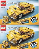 LEGO CREATOR COOL CARS 4939 BUILDING MANUALS ONLY