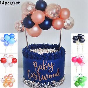 Confetti Happy Birthday Balloon Wedding Cake Topper Arch Garland Decoration 14Pc