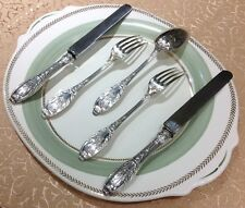 Antique French Chenaillier Henri Soufflot Silverware Set For 12 EXTREMELY RARE!