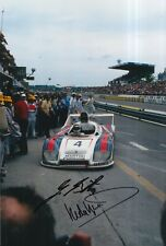 Hurley Haywood and Jurgen Barth Hand Signed 12x8 Photo Le Mans Porsche 1.