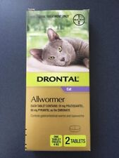 Drontal Cat Allwormer 4kg 2 Tablets