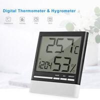 3.9'' Digitale Interno Esterno Temperatura Termometro Igrometro Umidità Orologio