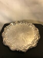 Serving Tray Silver Plated On Copper&Marked. Weighs 4 Lb 7 Oz.See8pix.MAKE OFFER