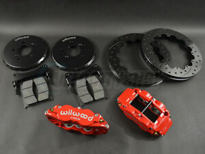 Wilwood Forged Narrow Superlite 6R Front Big Brake Kit w/ Lines 06-11 Civic Si