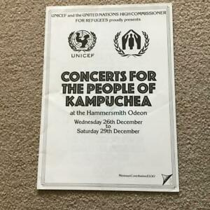 Queen The Clash  McCartney Wings Who Specials Programme Kampuchea concert 1979
