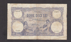 20 LEI VG BANKNOTE FROM  ROMANIA 1922 PICK-20