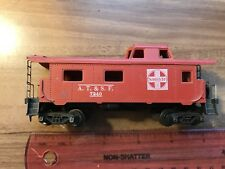 Vintage Ho Scale Caboose / Train Car - Santa Fe A. T. & S. F. #7240, Red & White