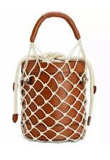 Steve Madden Women's Leather Mermaid Cognac Bucket Handbag Bag, Brown ~ NWT $88