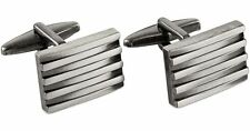 New Mens Kenneth Cole Rocket Distressed Stacked Square Cufflinks