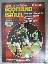 1981 World Cup Qualifying Match SCOTLAND v ISRAEL, 28 April