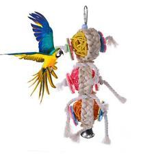 Parrot Bird Bites Toys Climb Chew Swing Cage Hanging Cockatiel Parakeet