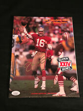 JOE MONTANA SIGNED SUPERBOWL PROGRAM - JSA CERTIFIED AUTOGRAPH