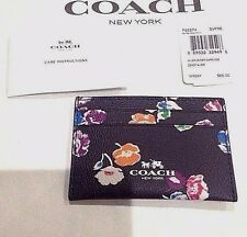 Coach Authentic Wildflower Coated Canvas Print Flat Card Case Nwt