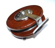 "fine 6"" mahogany nickple plated Allcocks vintage sea fishing reel & bell housing"