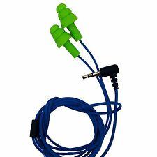 Workinbuds Green/Blue Earplug Earphones: Noise Reduction Headphones For Work