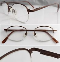 A10 High Quality Semi Rimless Reading Glasses/Spring Hinges/Classic Circle Style