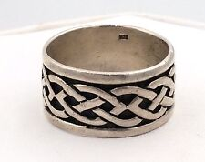Sterling Silver Celtic Knot Band Ring Size 12