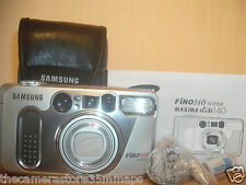 NEW BOXED SAMSUNG FINO 140 SUPER 35MM FILM CAMERA~38-140MM HIGH DEFINITION LENS