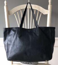 FOSSIL SYDNEY XL Black Leather Shopper Tote Shoulder Bag Handbag Carryall Purse