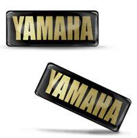 2 Resinati 3D Adesivi Sticker Yamaha R1 R6 Logo Emblem Oro Auto Moto Casco Bici
