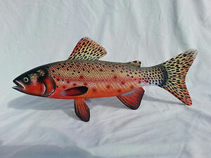 Hand Carved and Painted Greenback Cutthroat Trout