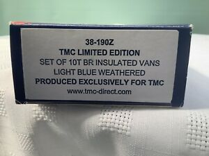 Bachmann 38-190Z OO Gauge SET OF 10T BR INSULATED VANS WEATHERED TMC LIMITED ED