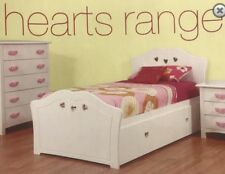 single bed with trundle Hearts white NEW DESIGN Girls Bed Kids